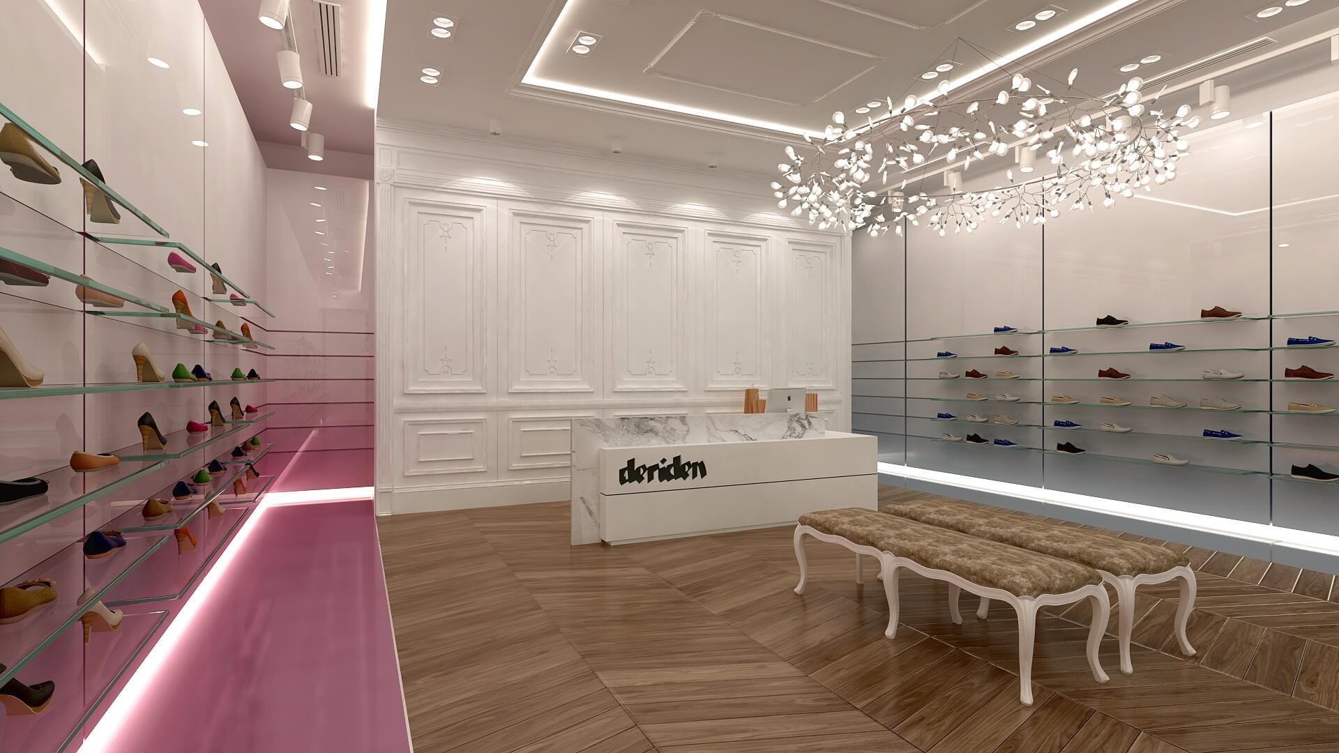 Mağaza Tasarımları ve İçmimari Dekorasyonu Deriden Konsept