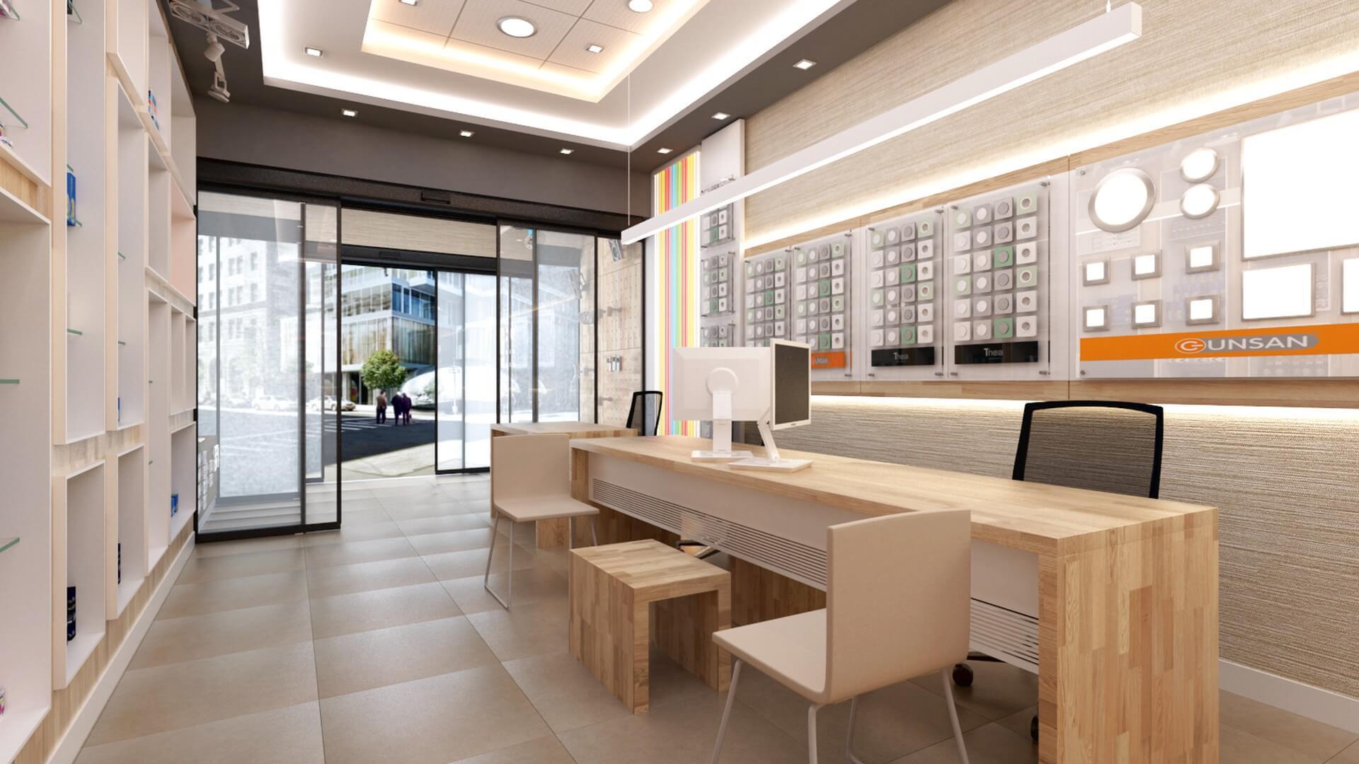 Mağaza Tasarımları ve İçmimari Dekorasyonu Yetven Elektrik / Ulus