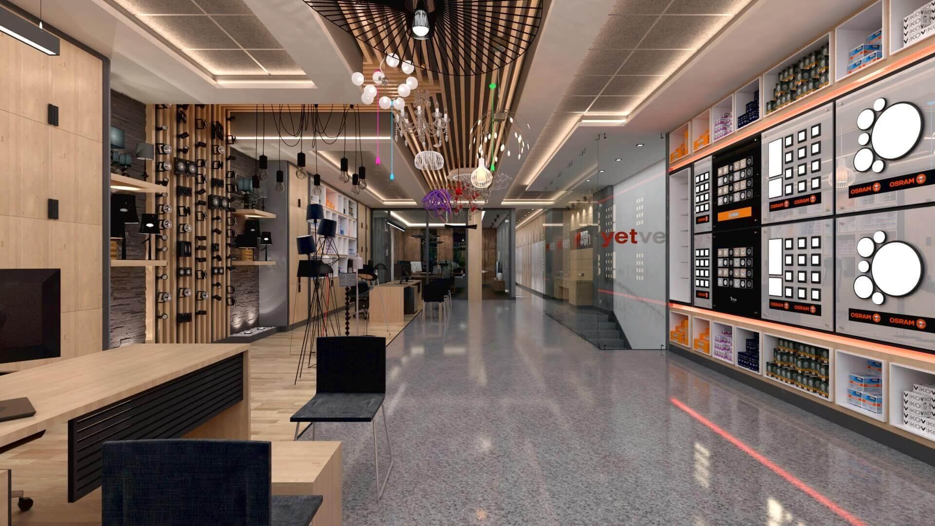 dükkan tasarımı 2040 Yetven Elektrik / Ostim Perakende
