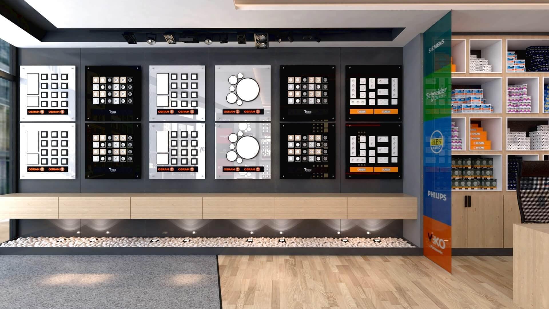 elektrik mağazası tasarımları 2042 Yetven Elektrik / Ostim Perakende