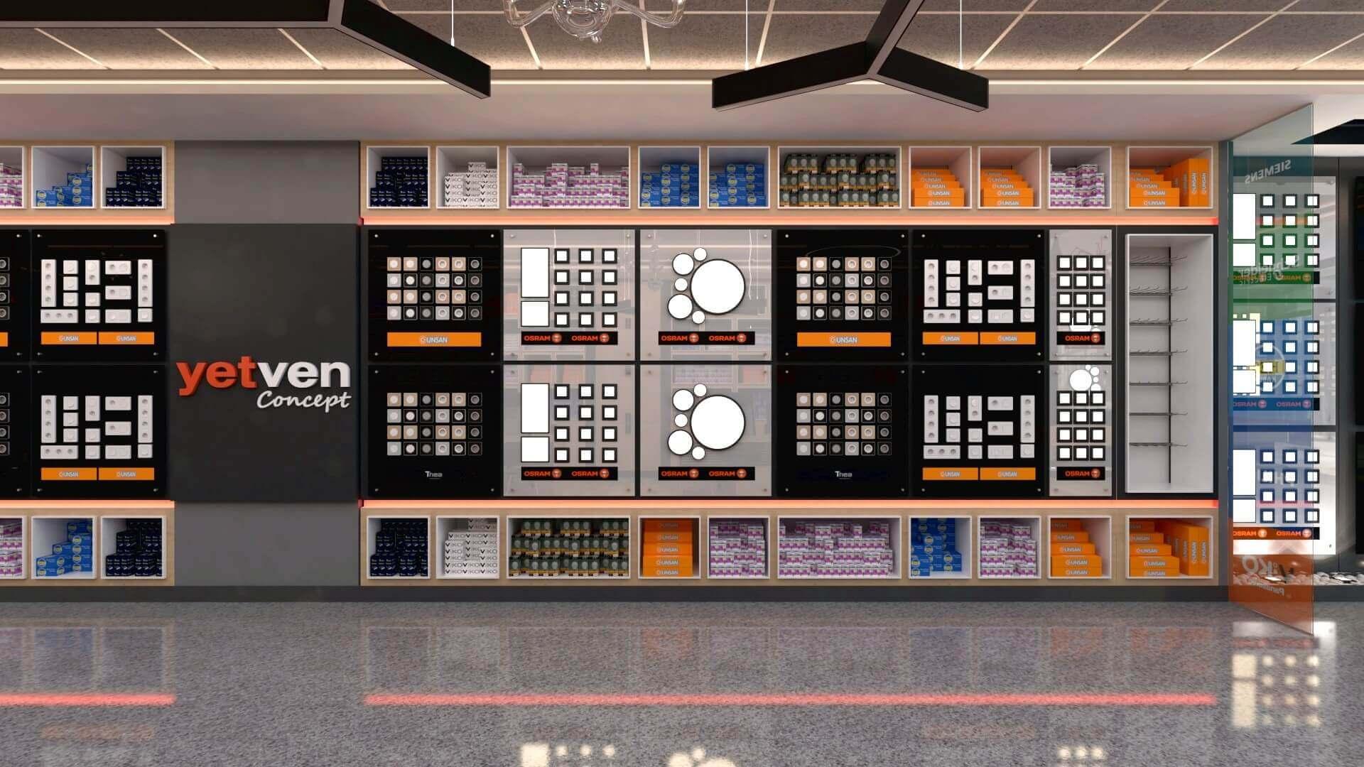 dükkan tasarımı 2043 Yetven Elektrik / Ostim Perakende
