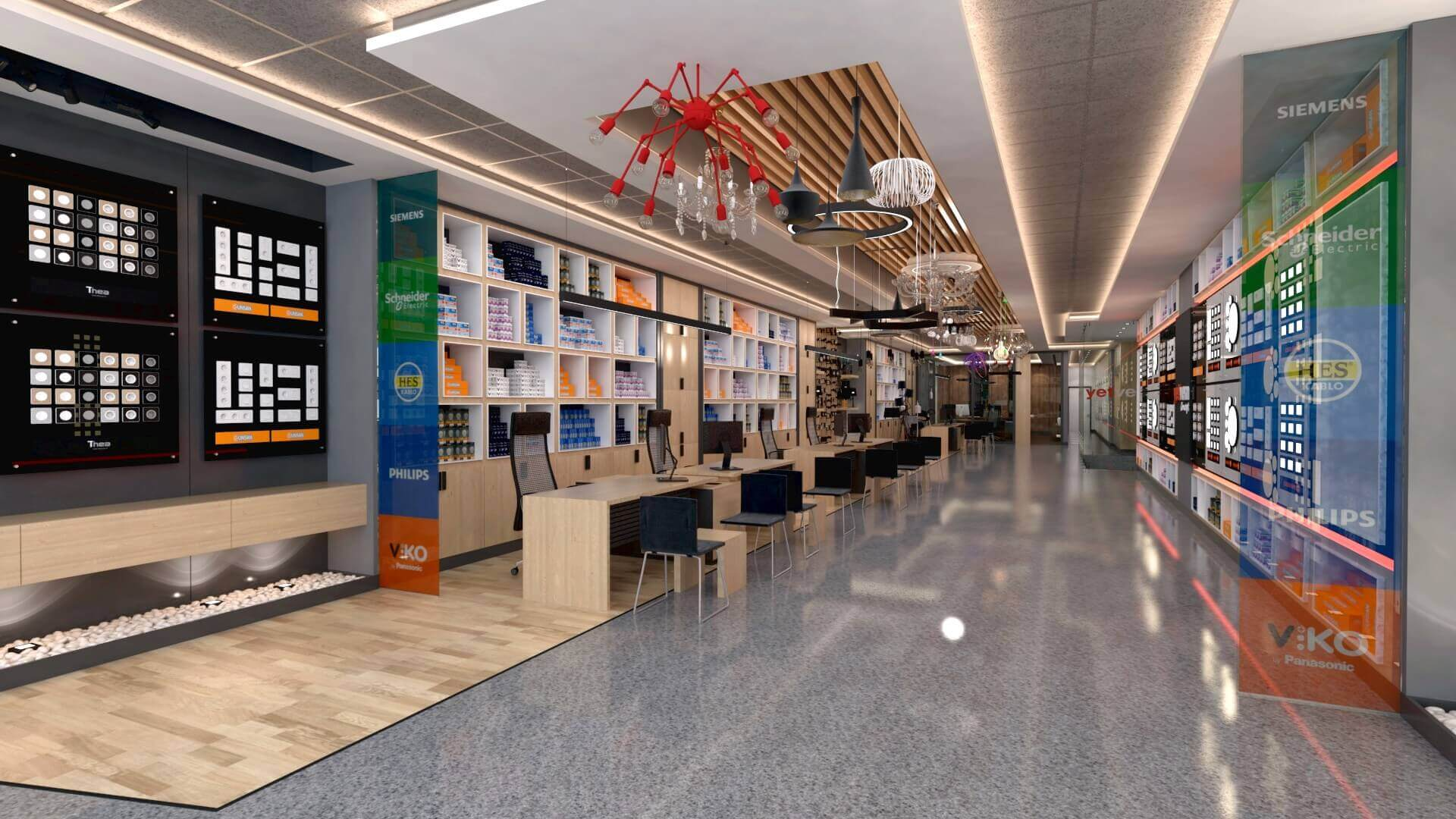 elektrik mağazası tasarımları 2044 Yetven Elektrik / Ostim Perakende