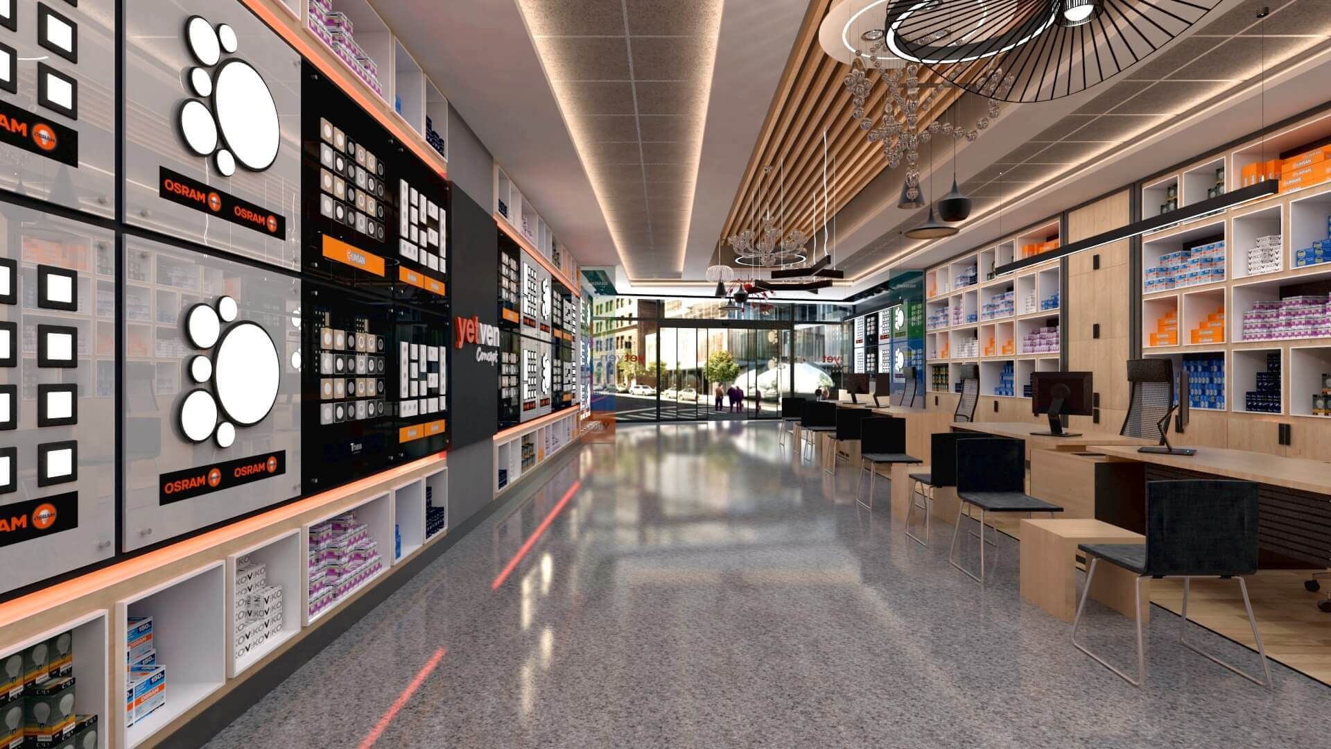 perakende mağaza 2045 Yetven Elektrik / Ostim Perakende
