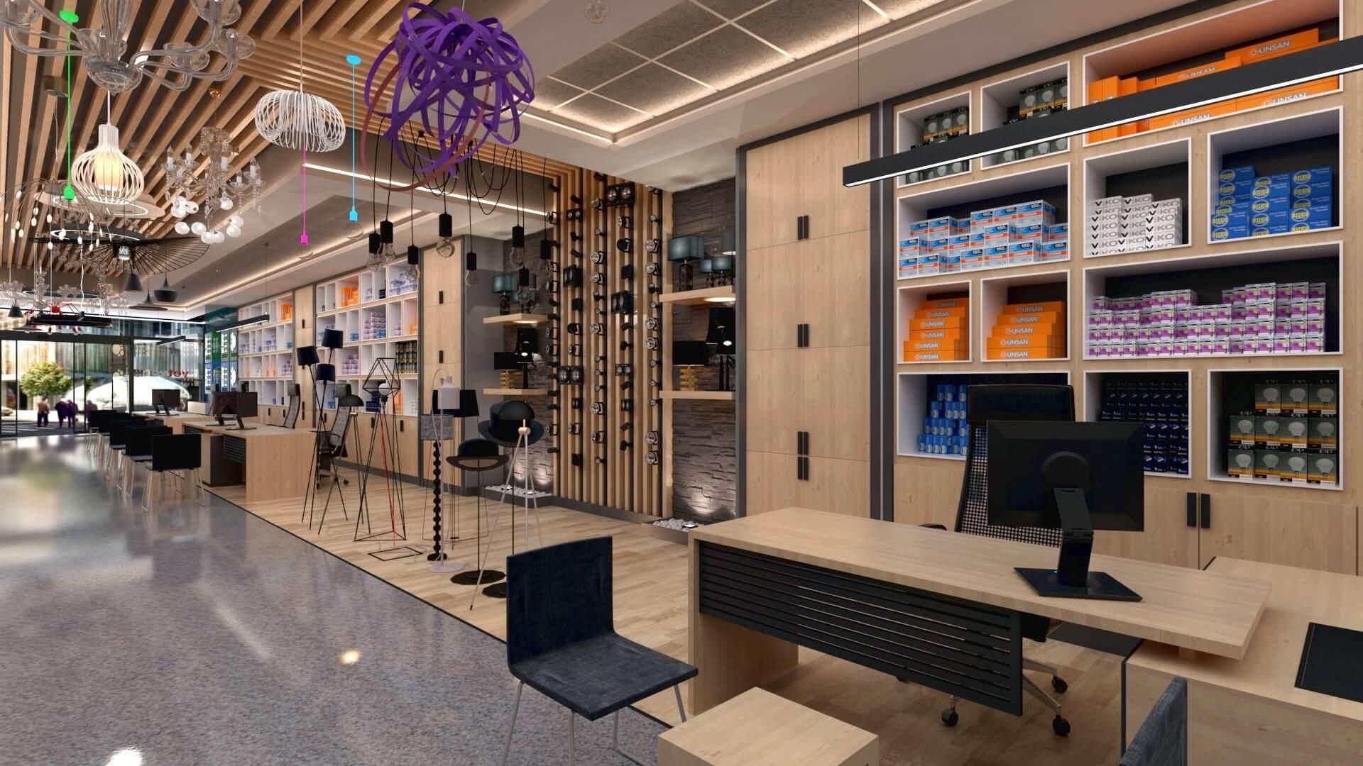 dükkan tasarımı 2046 Yetven Elektrik / Ostim Perakende