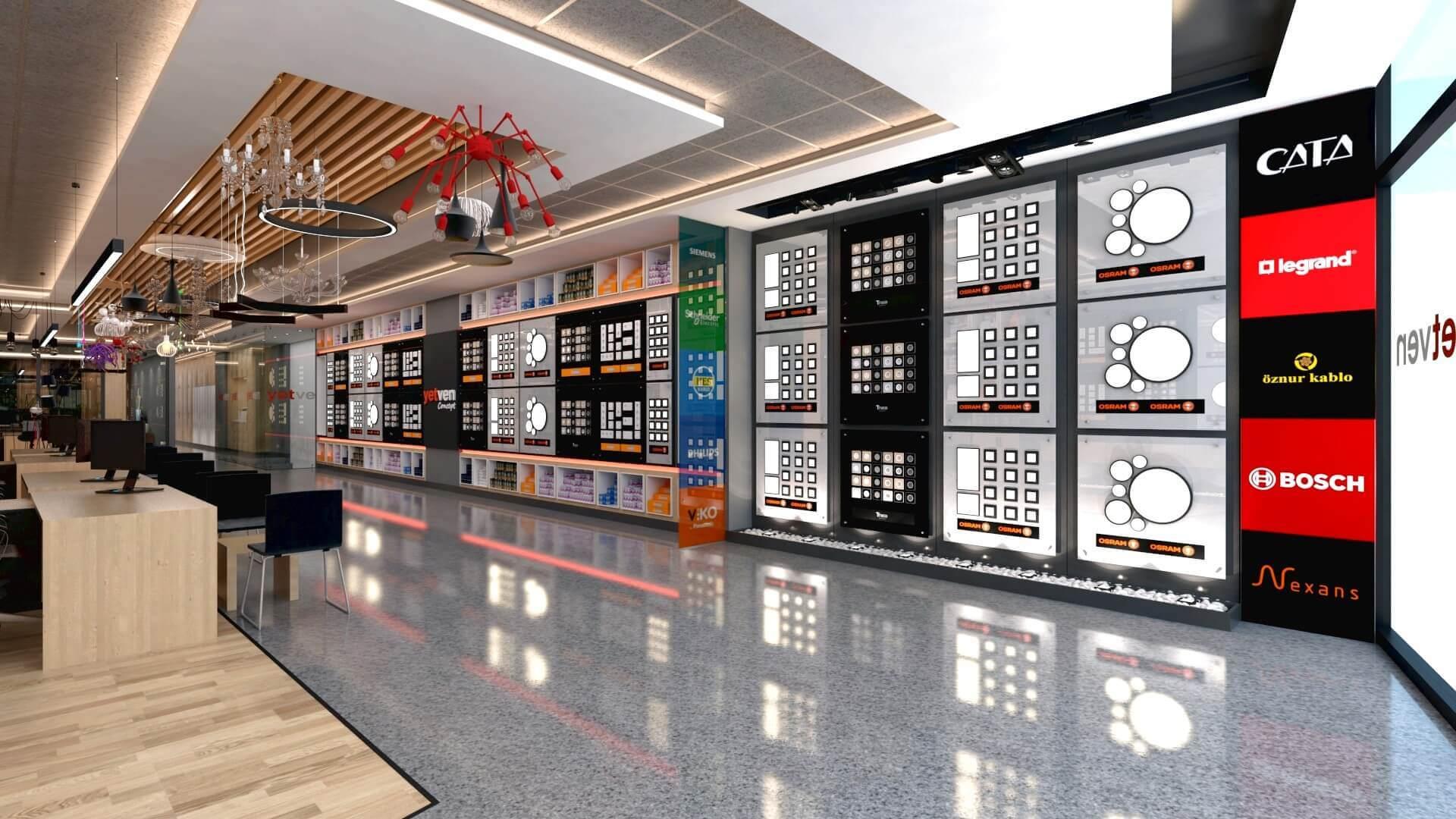 Mağaza tasarım 2051 Yetven Elektrik / Ostim Perakende