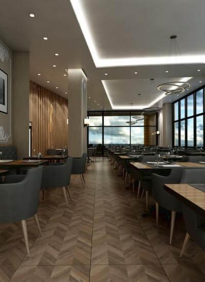 restorant iç tasarım 2074 Otonomi Restoran