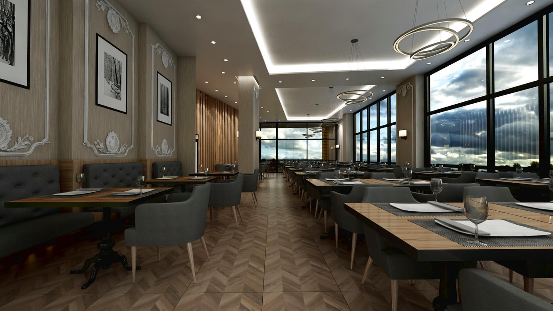 Restoran, Cafe, Fast-food Mimari Projeler Otonomi Restoran
