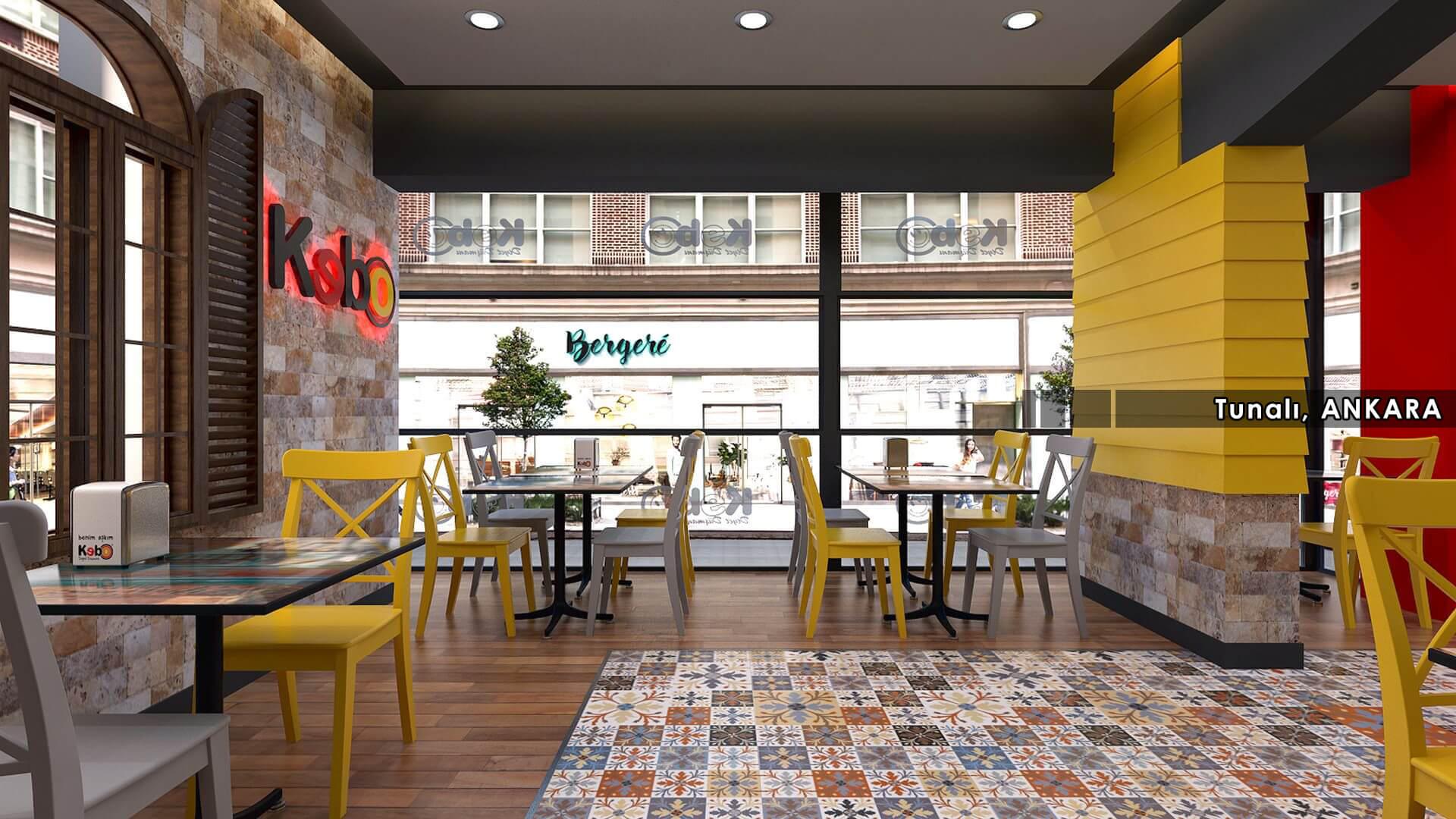 Restoran, Cafe, Fast-food Mimari Projeler Kebo 2016