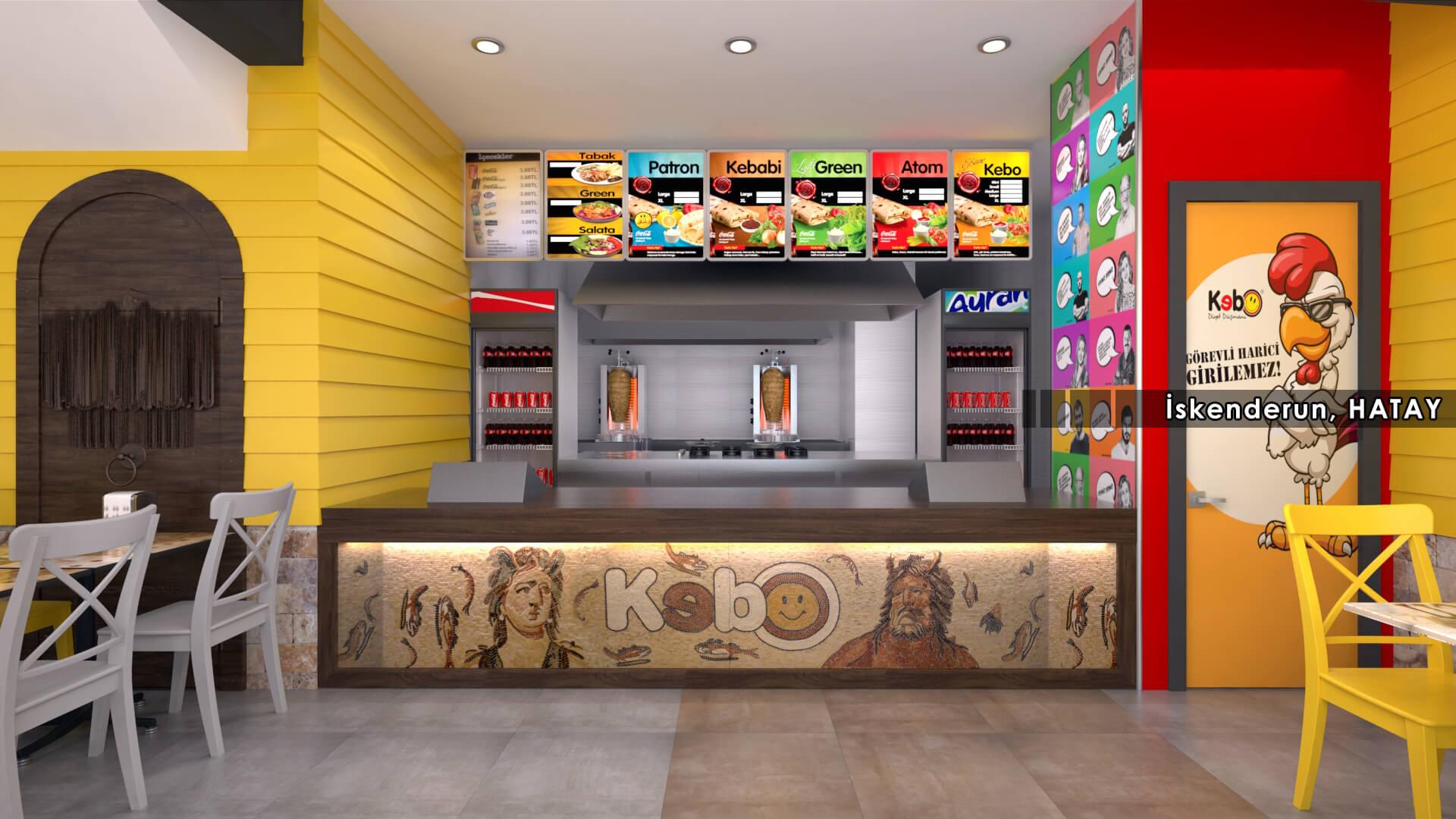 Restoran, Cafe, Fast-food Mimari Projeler Kebo 2017