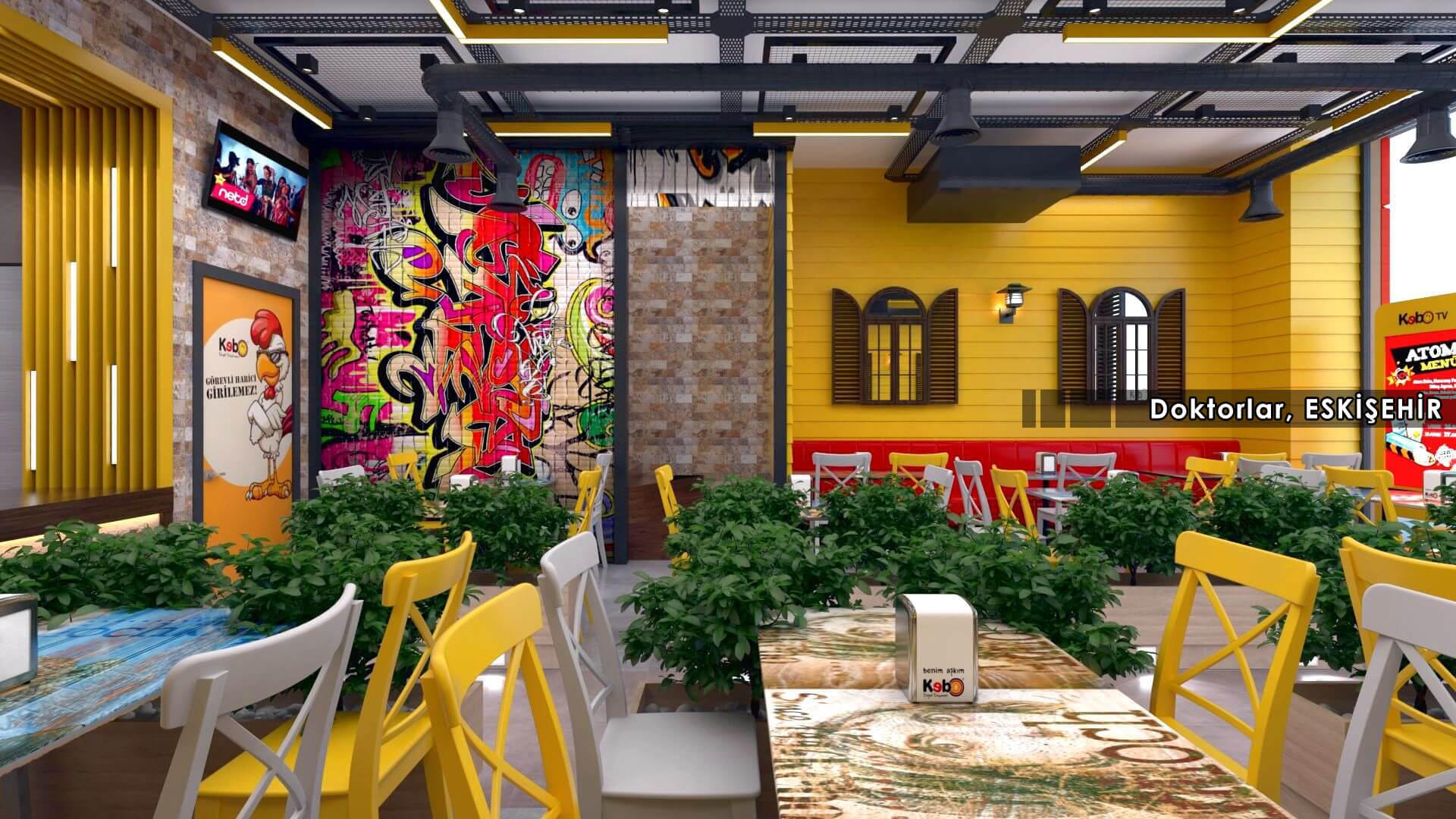 Restoran, Cafe, Fast-food Mimari Projeler Kebo 2018