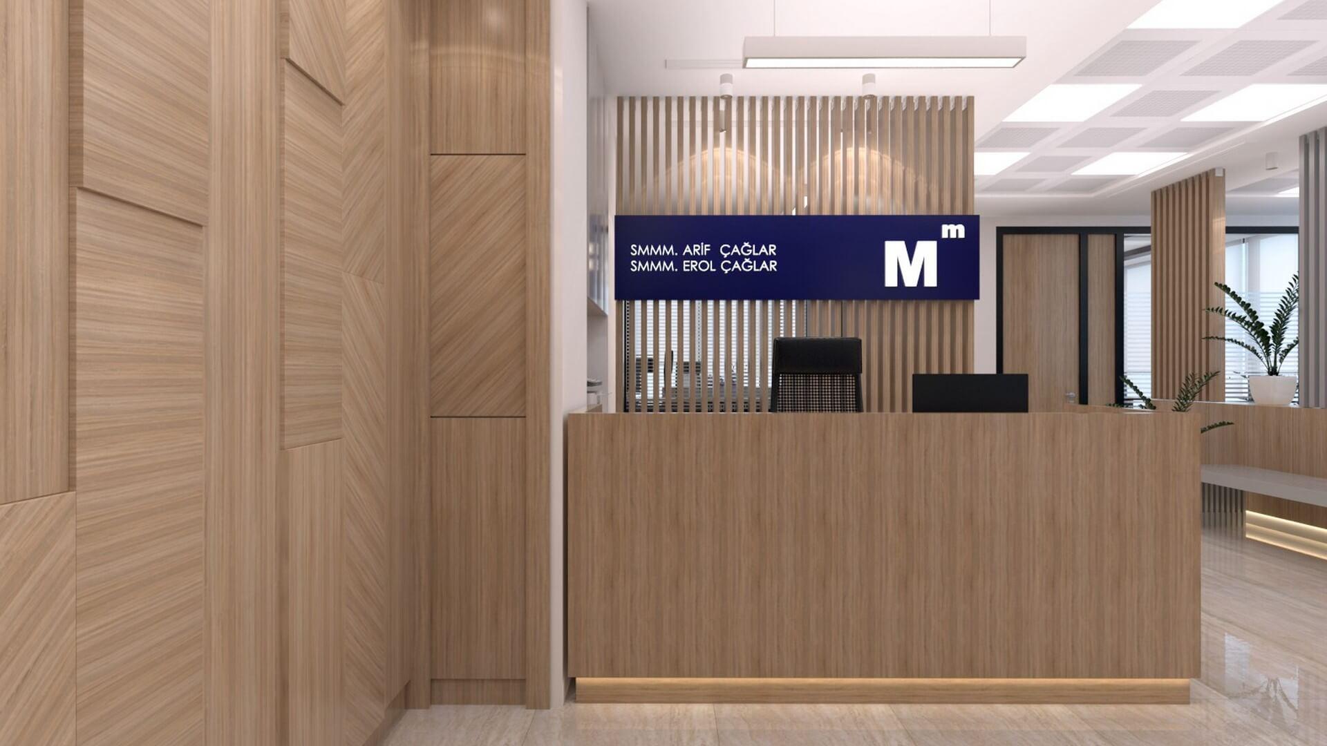 Ofis İç Mimari Dekorasyonu  A. Çağlar SMMM Ofisi
