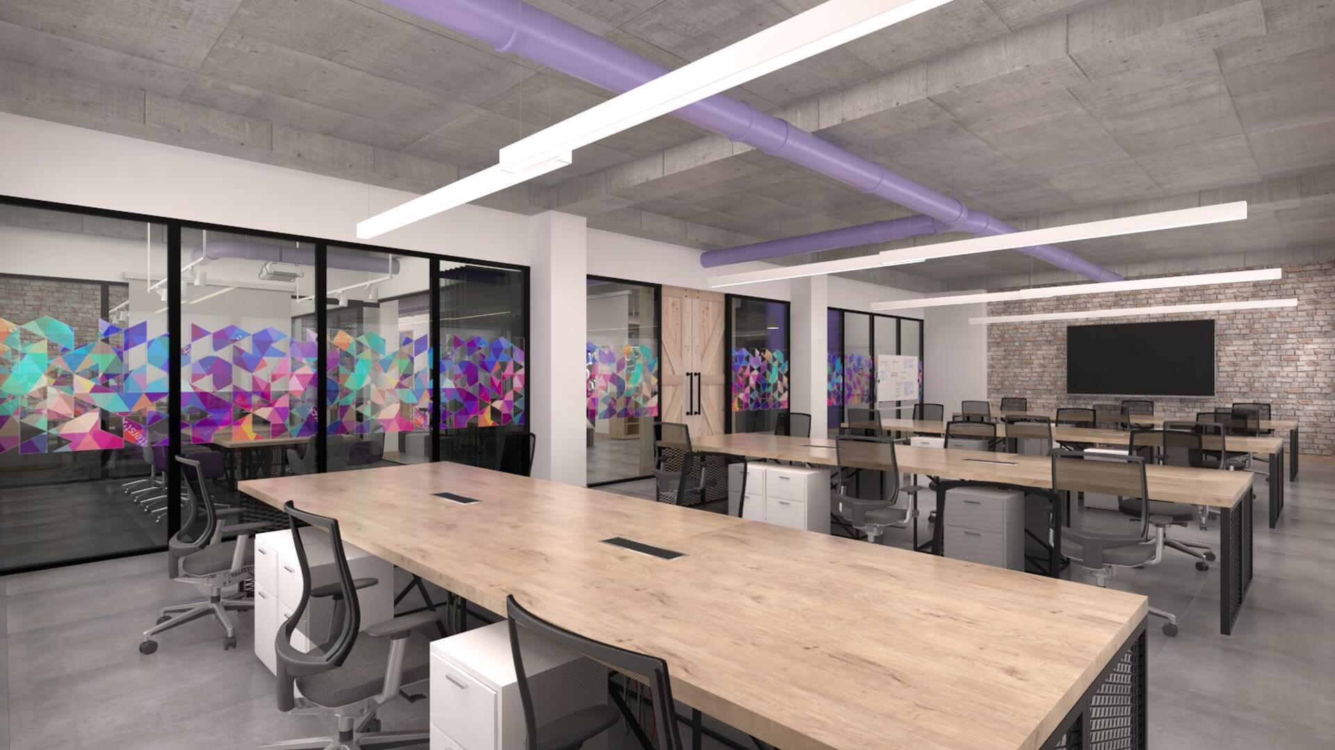 Ofis İç Mimari Dekorasyonu  Connected2.me C2M Bilişim