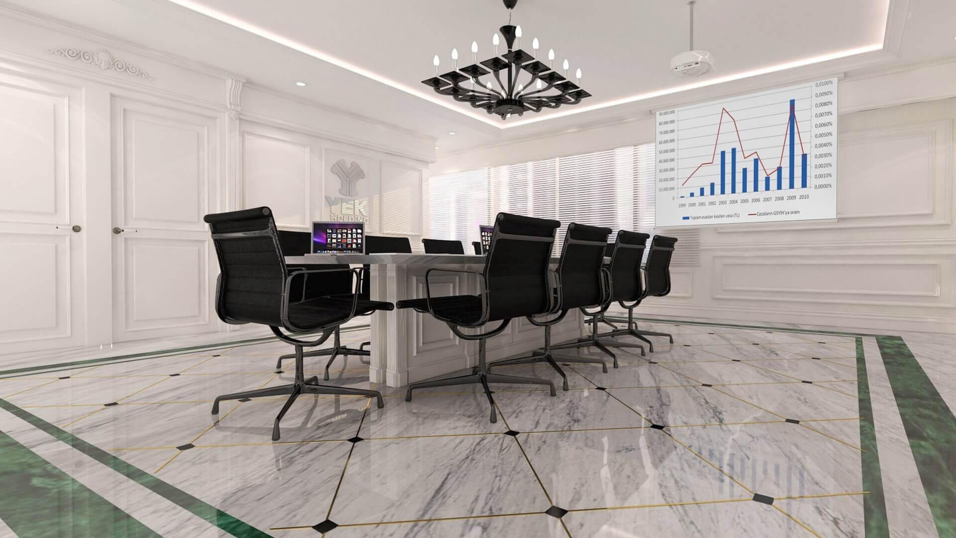 ofis içmimari 2460 YEK Petrokimya Ofisler