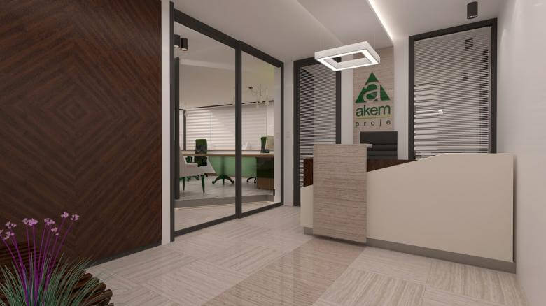 ofis içmimari 2481 Akem Gayrimenkul Ofisi Ofisler