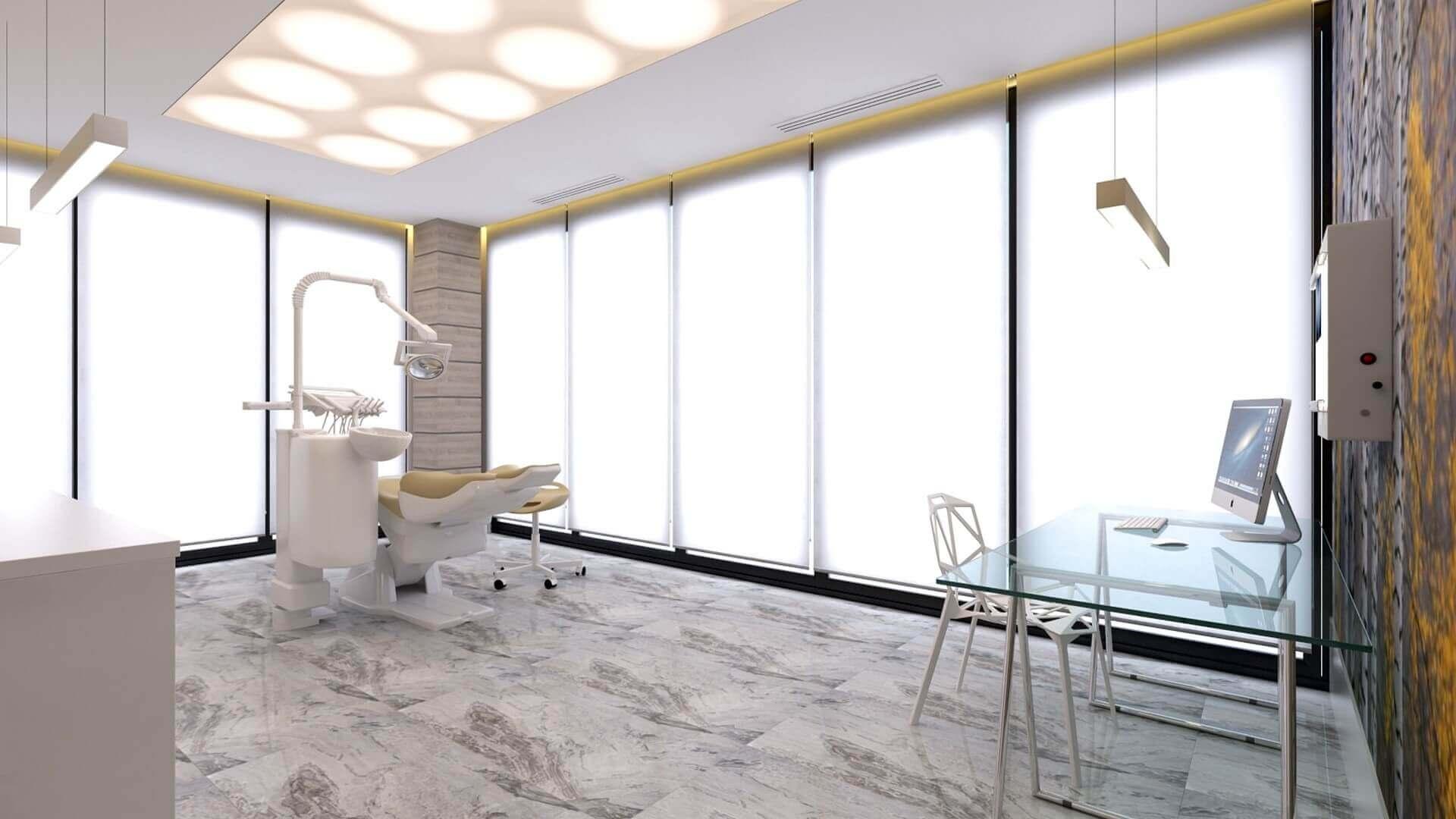 ofis içmimari 2565 Denthouse - Diş kliniği Ofisler