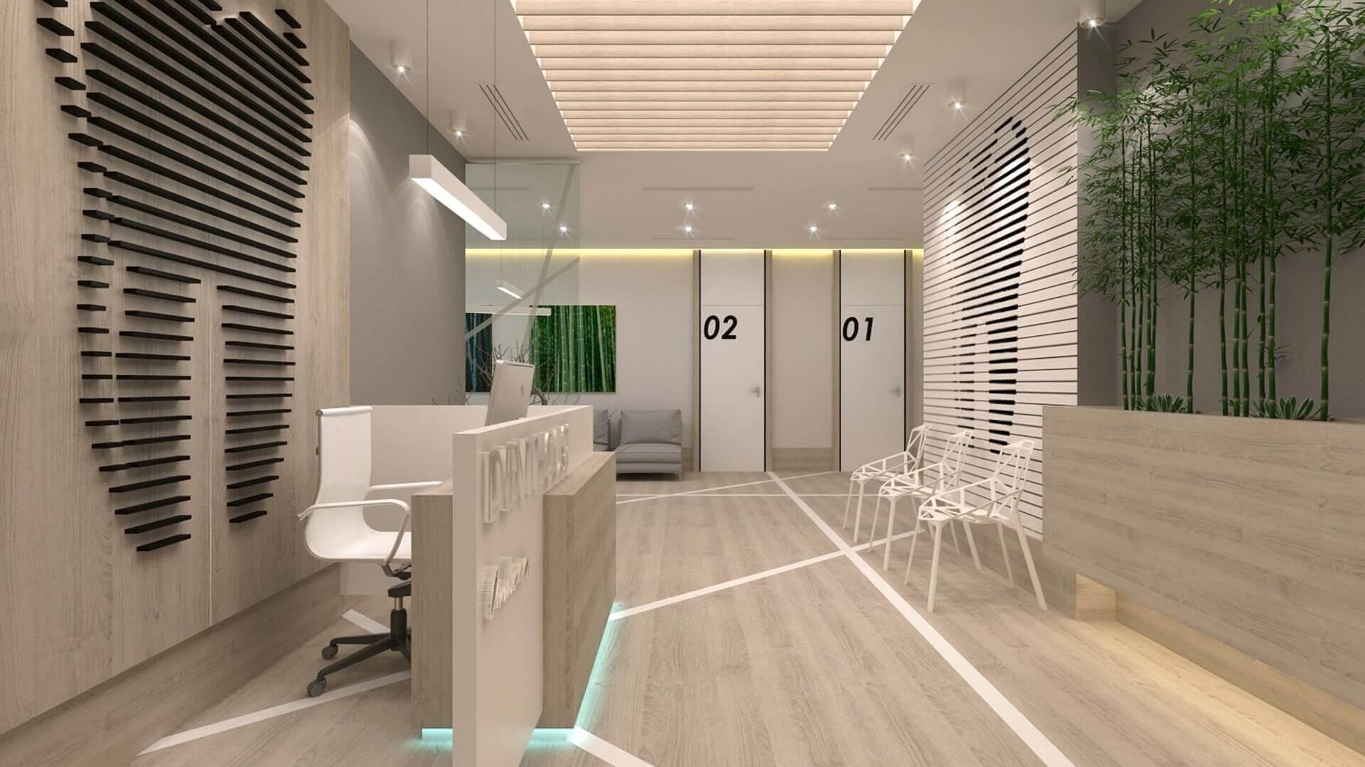 ofis içmimari 2568 Denthouse - Diş kliniği Ofisler