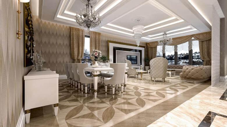 villa dekorasyonu 2828 Özel Proje Konutlar