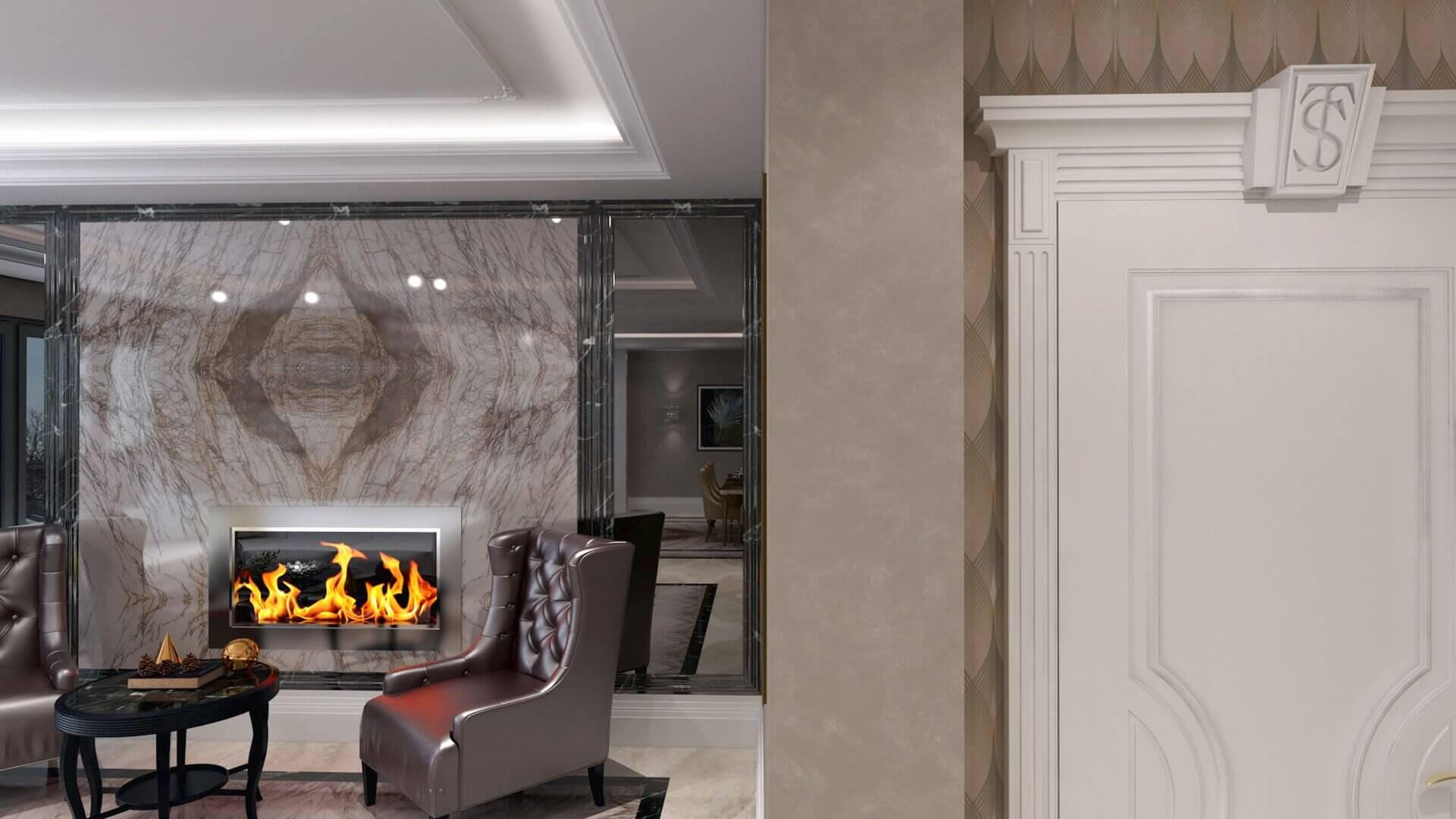 villa dekorasyonu 2850 Özel Proje Konutlar