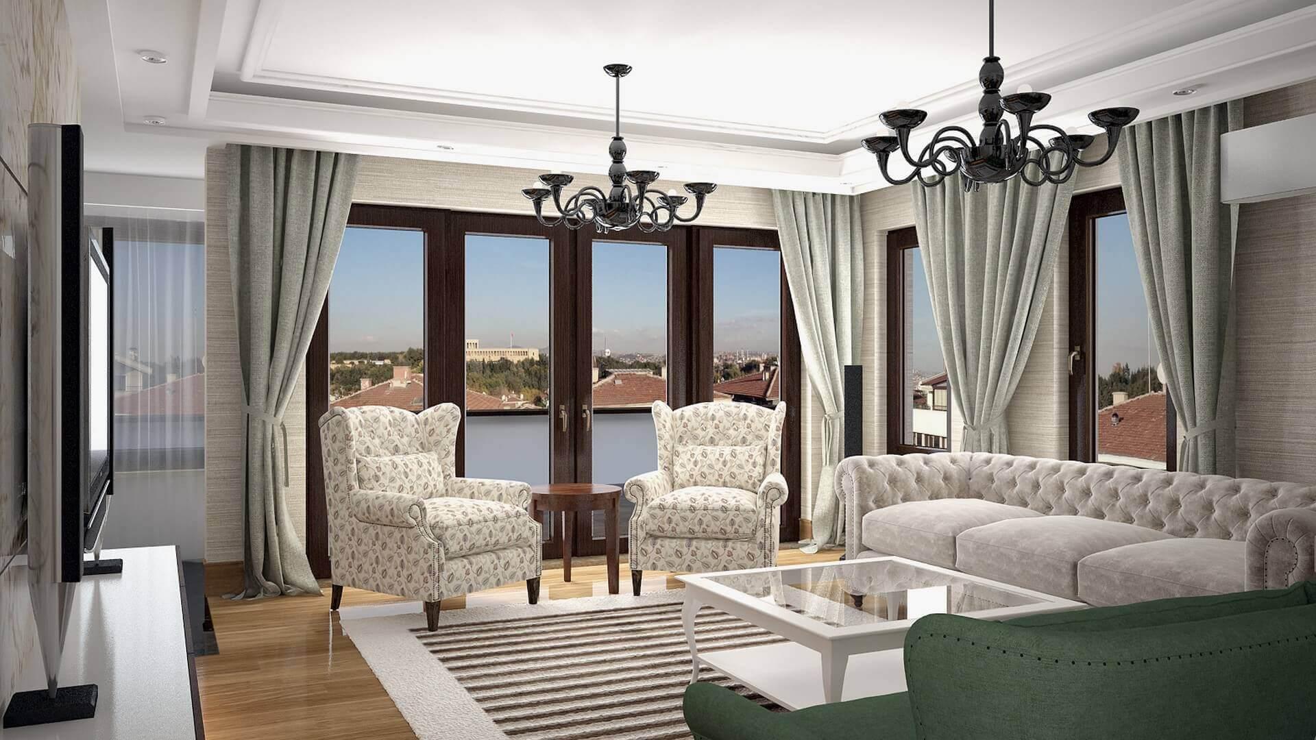 villa dekorasyonu 3048 C. Tombuloğlu Dairesi Konutlar
