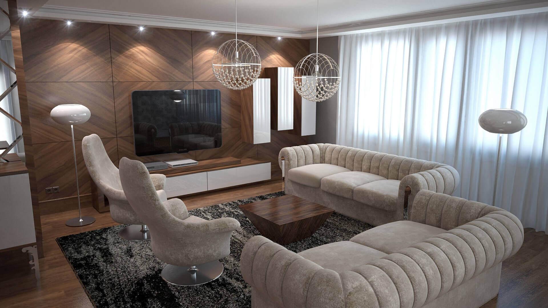 villa dekorasyonu 3057 C. Tombuloğlu Dairesi Konutlar
