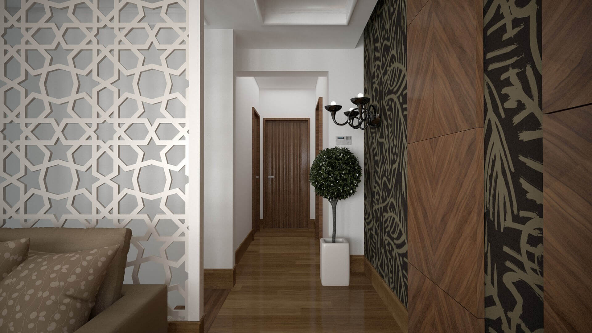 villa dekorasyonu 3072 C. Tombuloğlu Dairesi Konutlar