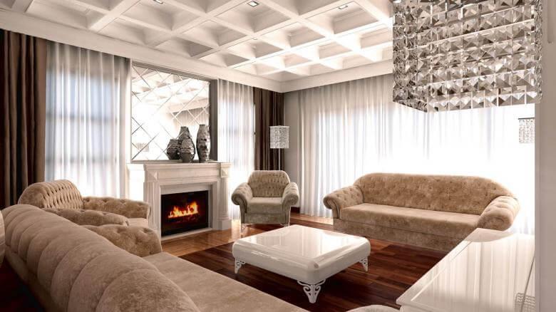 villa dekorasyonu 3095 SA Konutu Konutlar