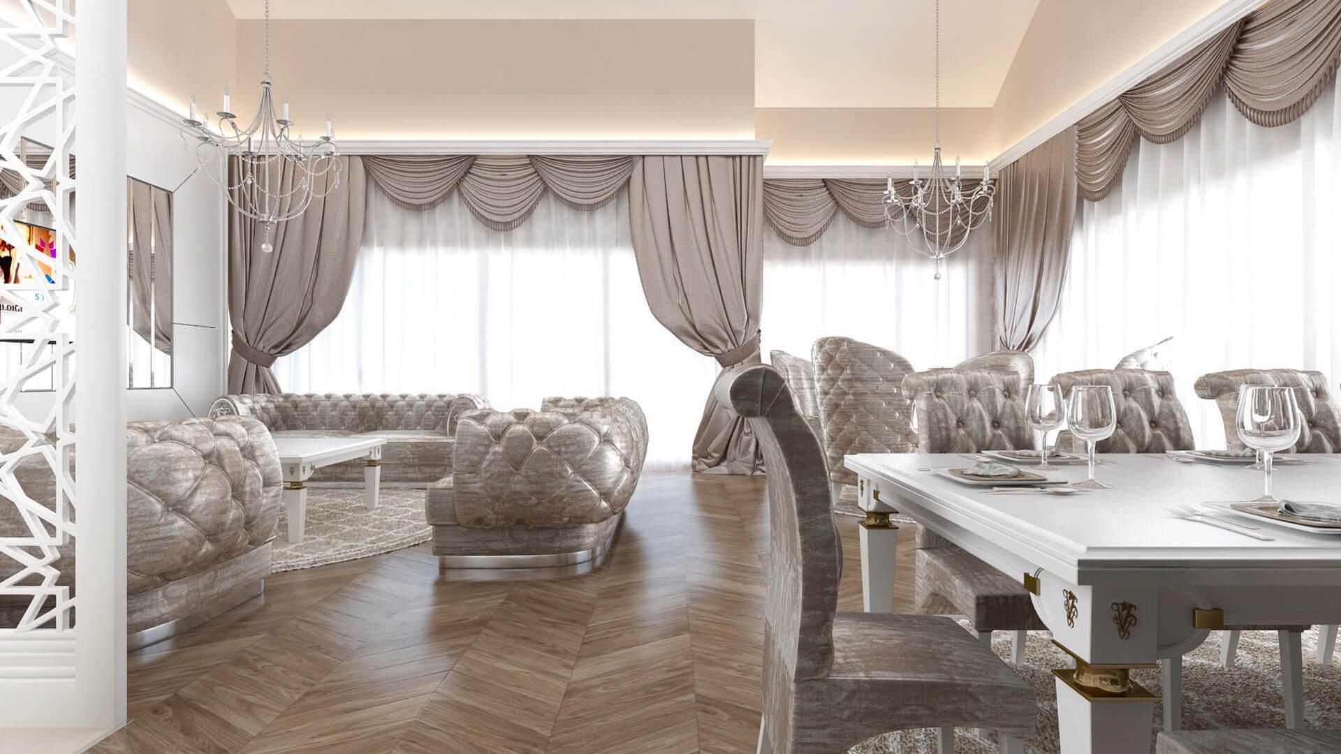Ankara villa dekorasyon 3291 S. Aslan Dairesi Konutlar