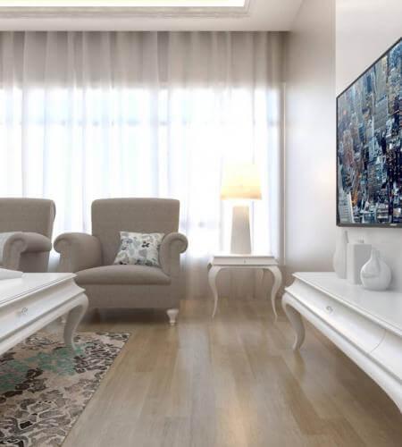 Lüks villa iç dekorasyonları  D. Ünal Dairesi Konutlar