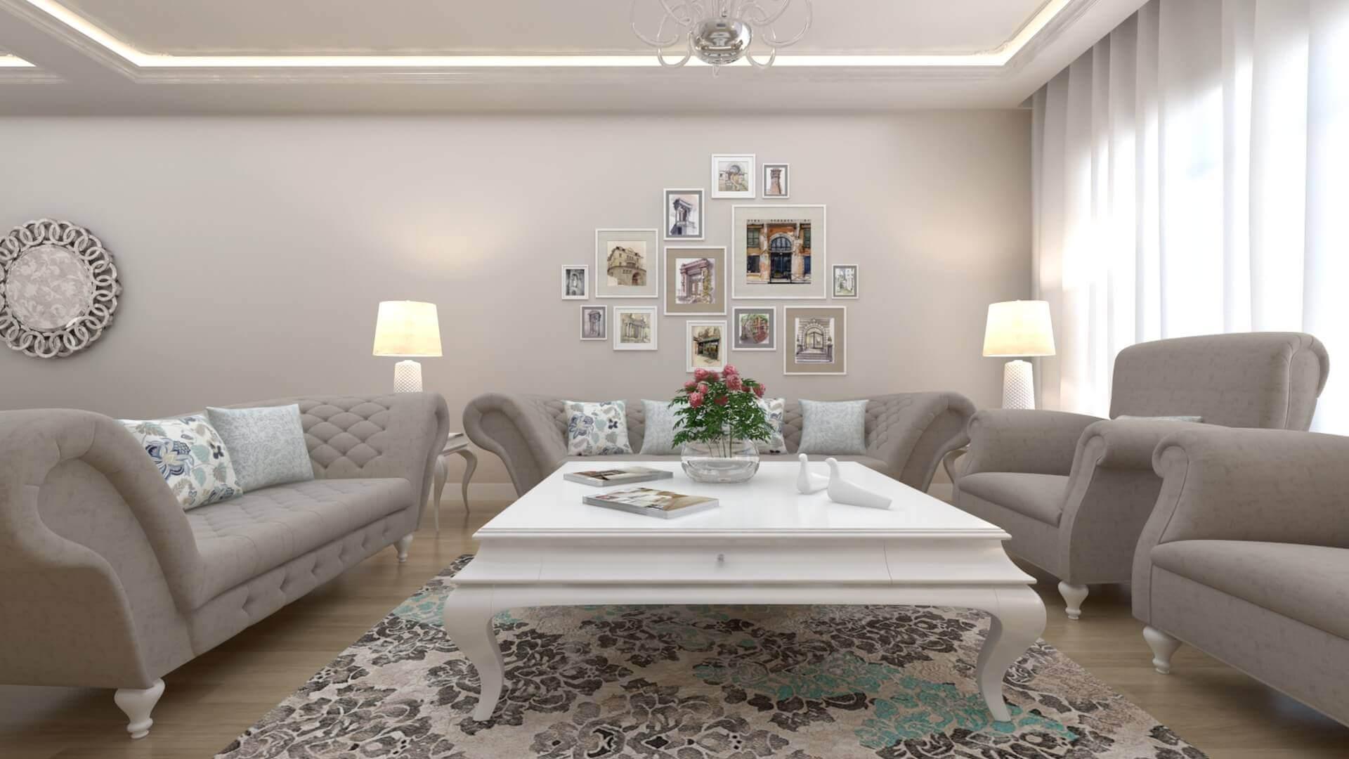 villa dekorasyonu 3315 D. Ünal Dairesi Konutlar