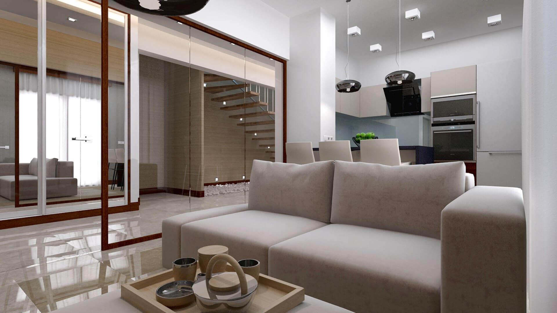 villa dekorasyonu 3414 M. Kavacık Dairesi Konutlar