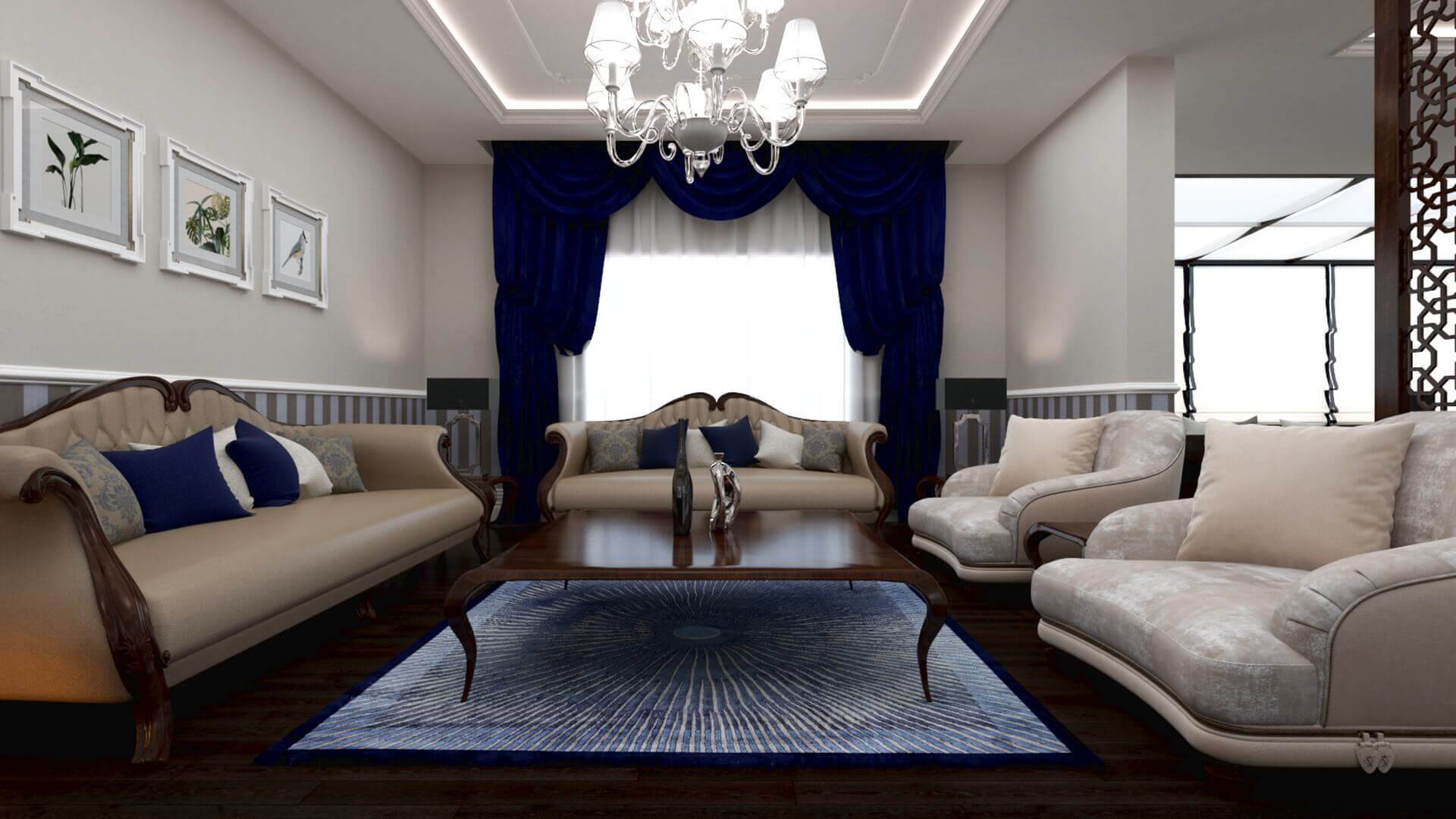 villa dekorasyonu 3429 Aslan Konutu Konutlar