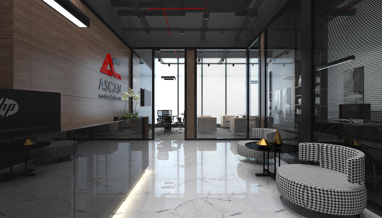 ofis mimari 3502 Ascan Maden Çimento Ofisler