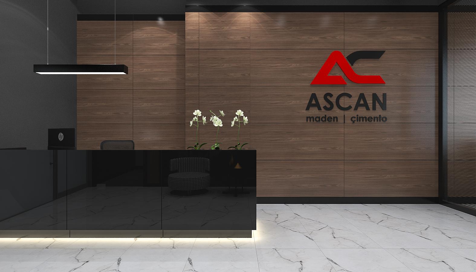 Ofis İç Mimari Dekorasyonu  Ascan Maden Çimento