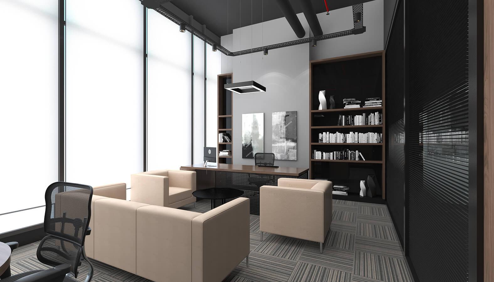 ofis mimari 3506 Ascan Maden Çimento Ofisler