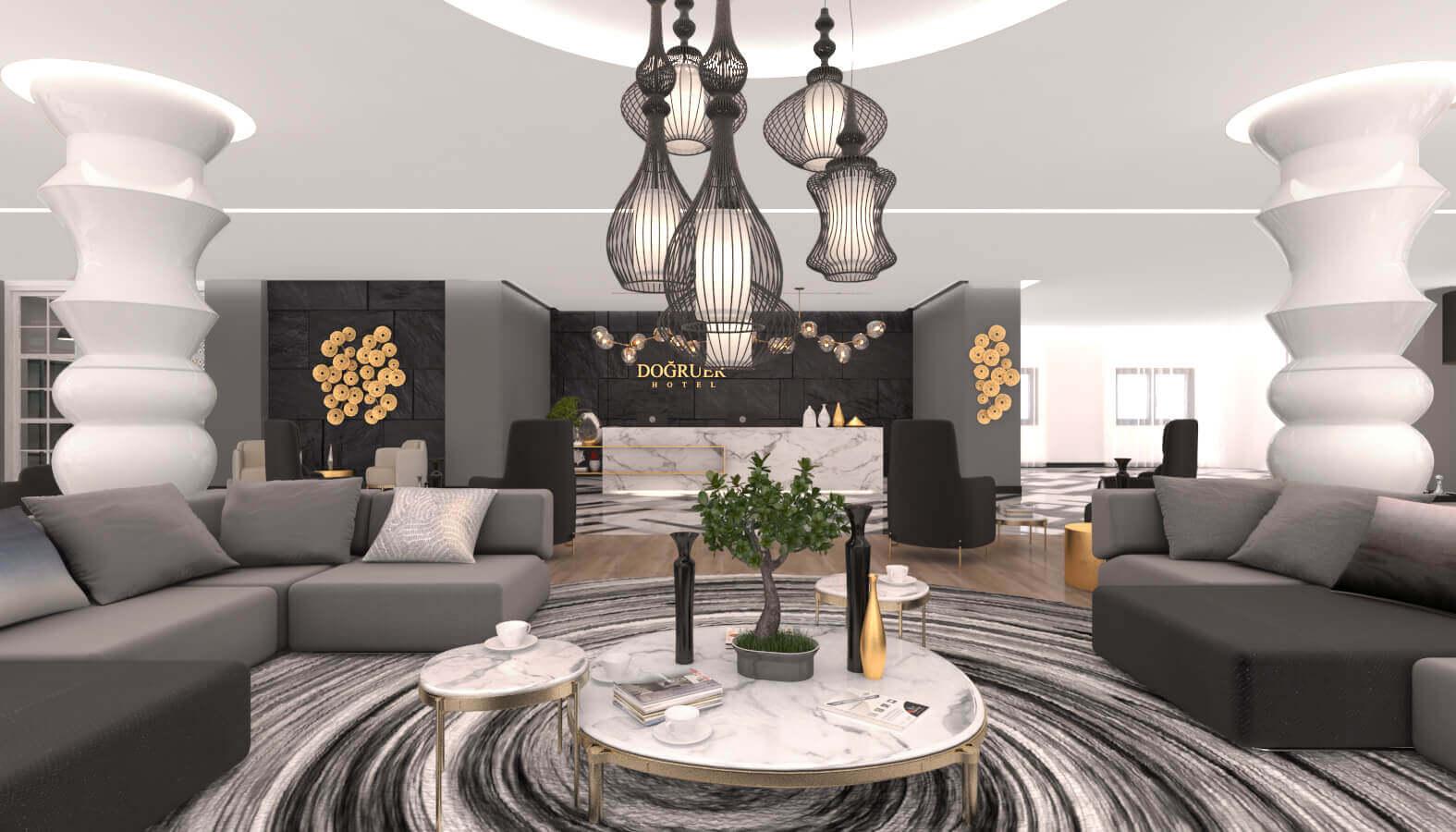 otel tasarımı 3580 Doğruer hotel Oteller