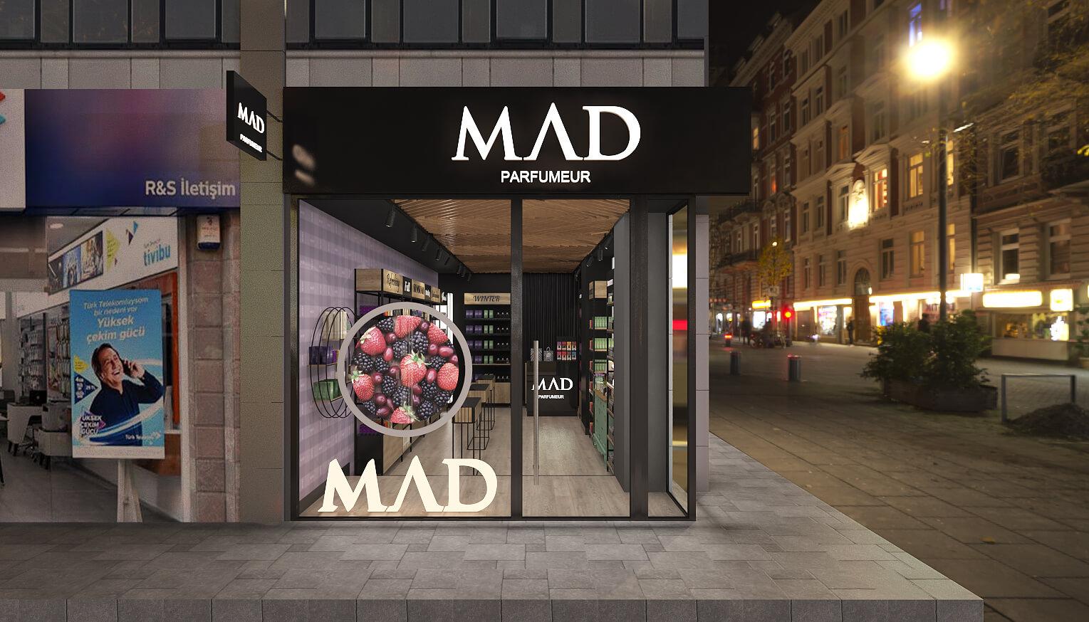 giyim mağazası tasarımı 3680 MAD Parfumeur Perakende