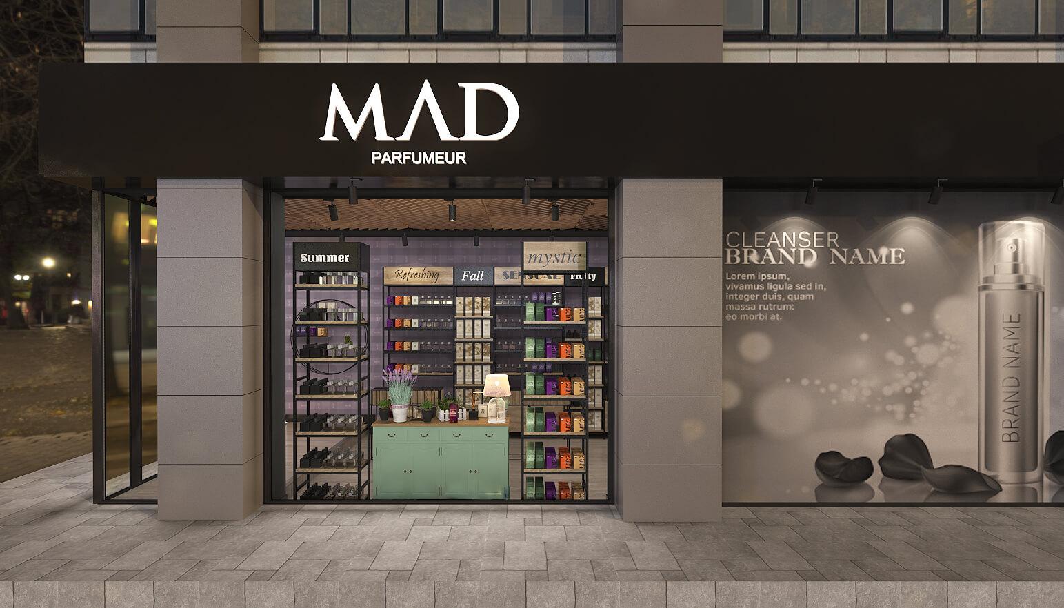 elektrik mağazası tasarımları 3682 MAD Parfumeur Perakende