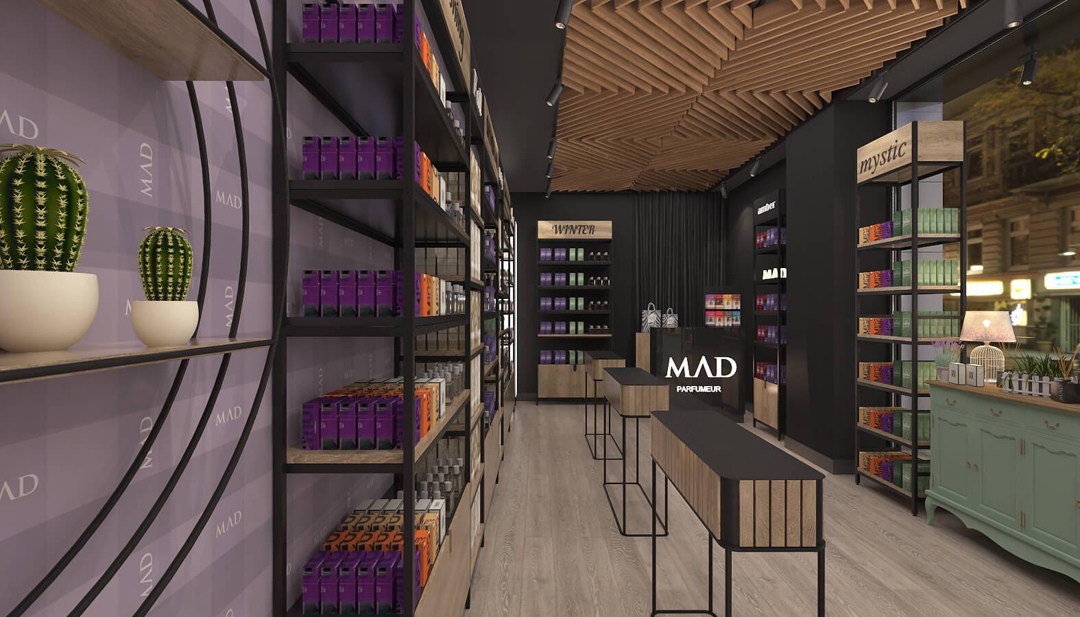 elektrik mağazası tasarımları 3686 MAD Parfumeur Perakende