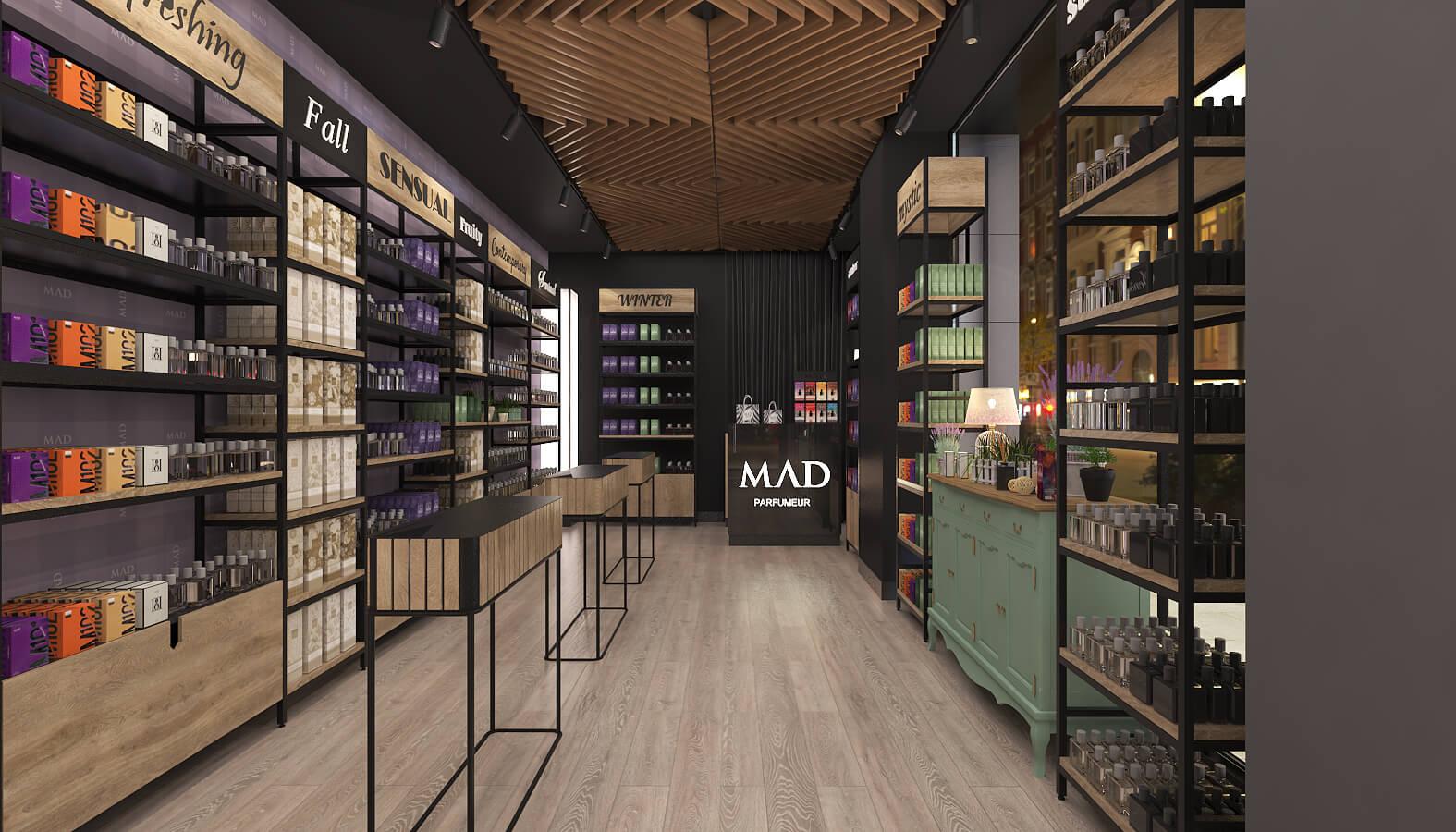 dükkan tasarımı 3687 MAD Parfumeur Perakende