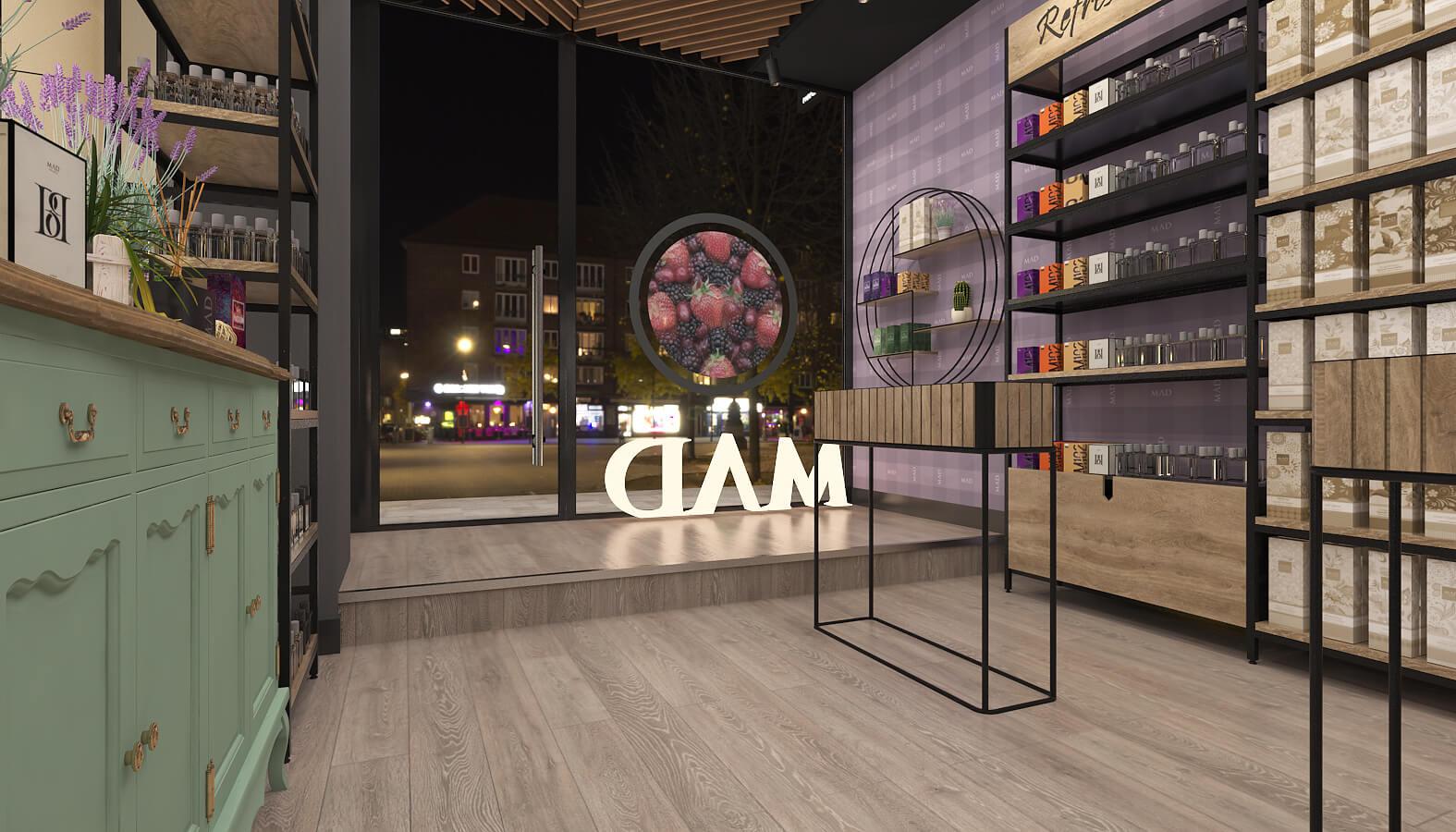 giyim mağazası tasarımı 3688 MAD Parfumeur Perakende