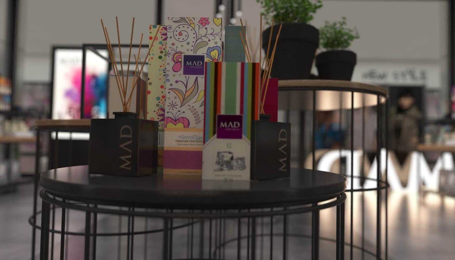 Mağaza tasarım 3691 MAD Parfumeur Perakende