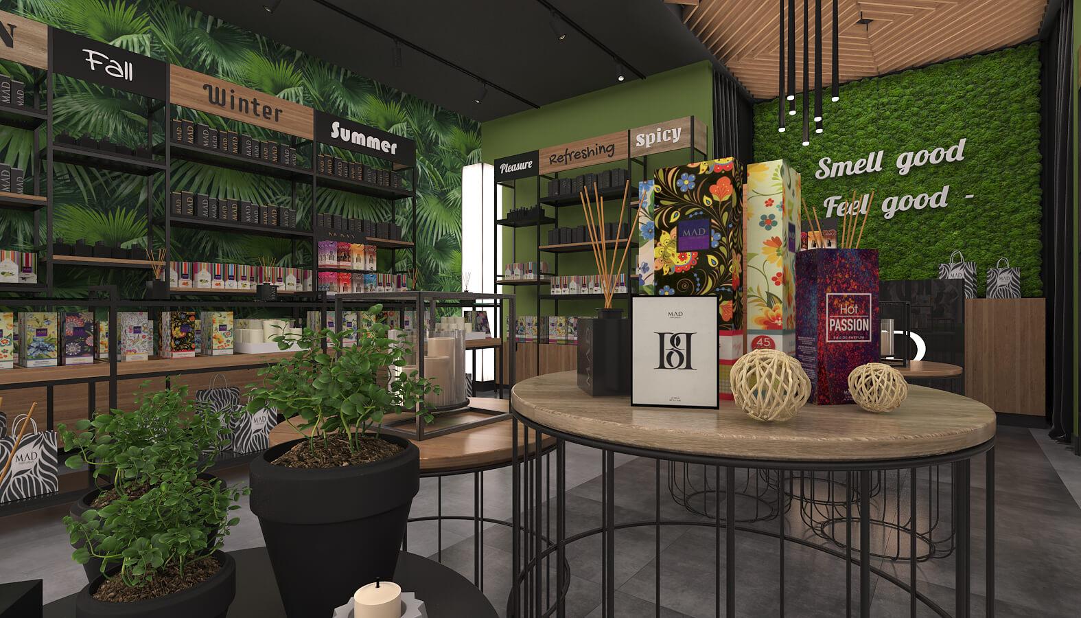 dükkan tasarımı 3696 MAD Parfumeur Perakende