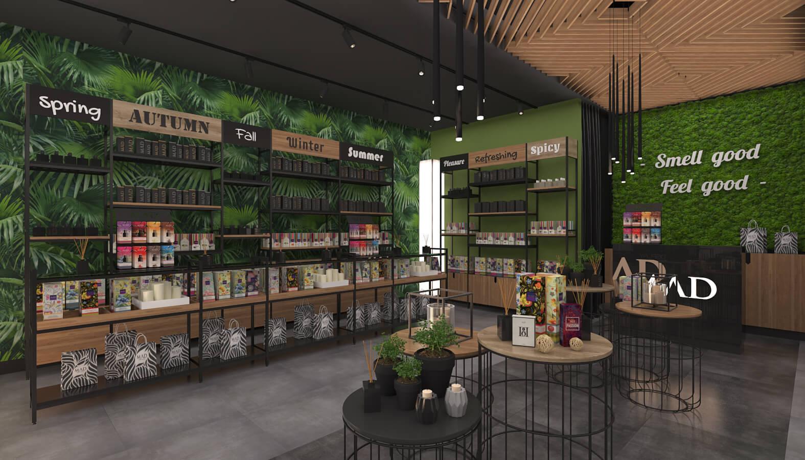 elektrik mağazası tasarımları 3698 MAD Parfumeur Perakende