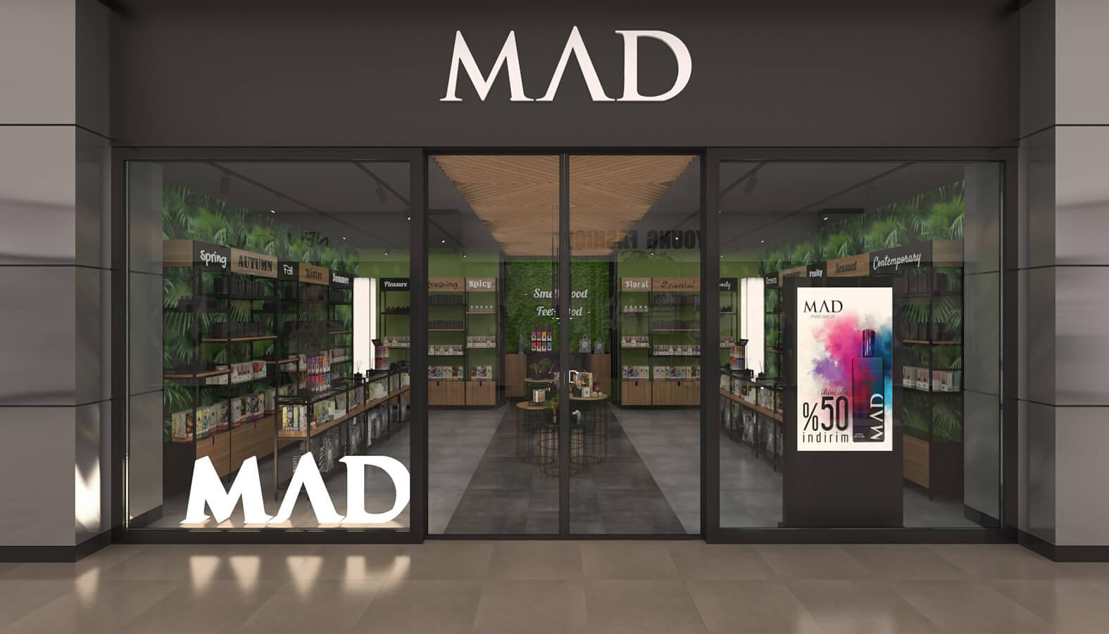 giyim mağazası tasarımı 3704 MAD Parfumeur Perakende