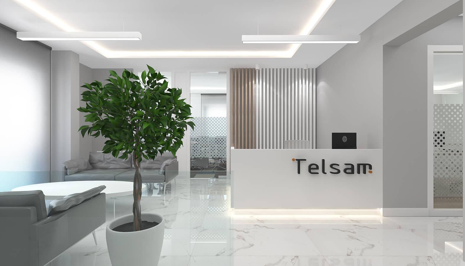 Ofis İç Mimari Dekorasyonu  Telsam Telekom