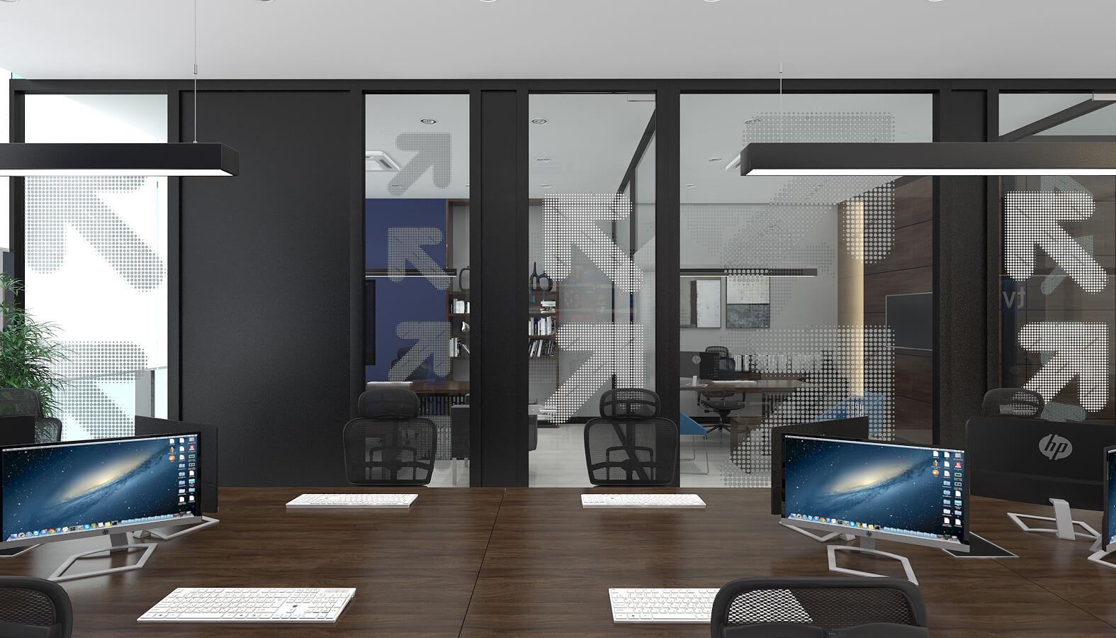 Ofis İç Mimari Dekorasyonu  TV ON