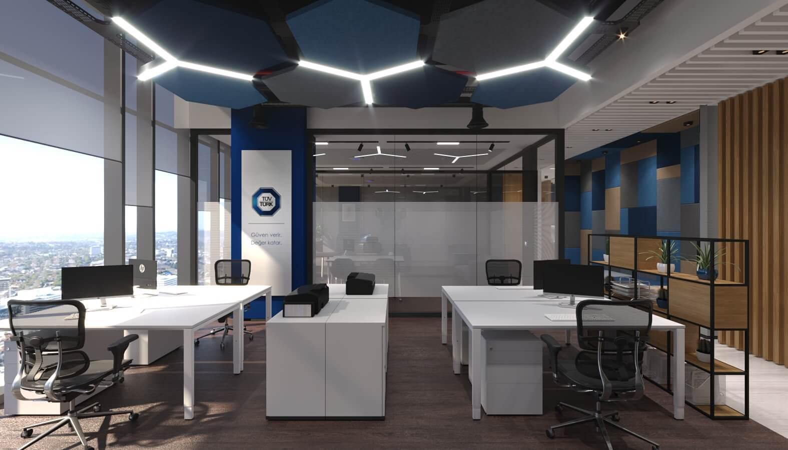 Ofis İç Mimari Dekorasyonu  Tüvtürk Ankara Ofis
