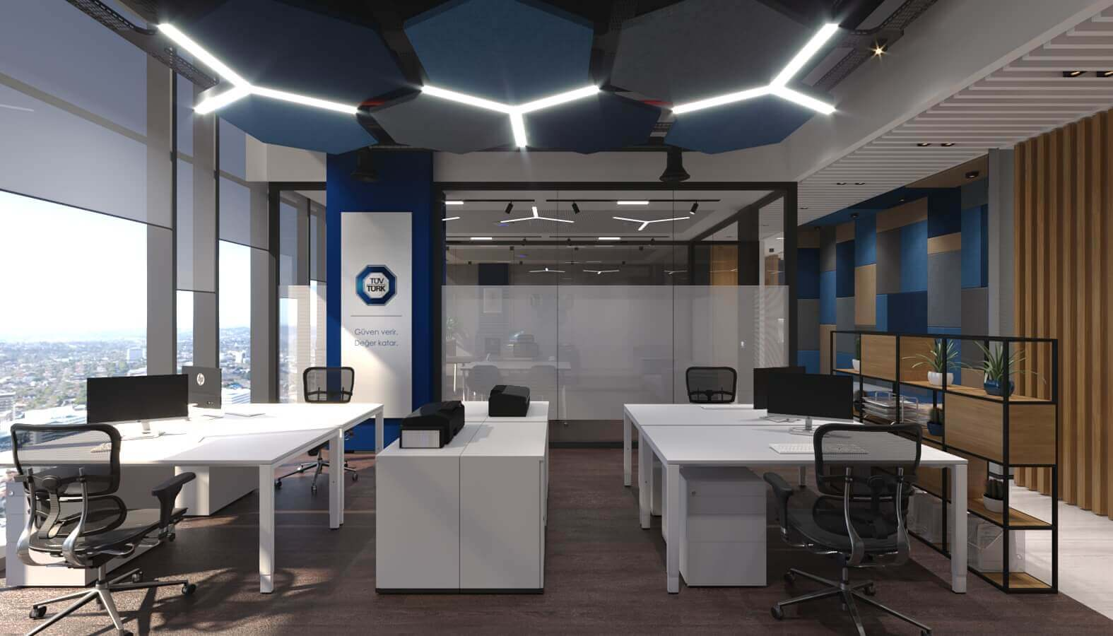 ofis dekorasyonu 3835 Tüvtürk Ankara Ofis Ofisler