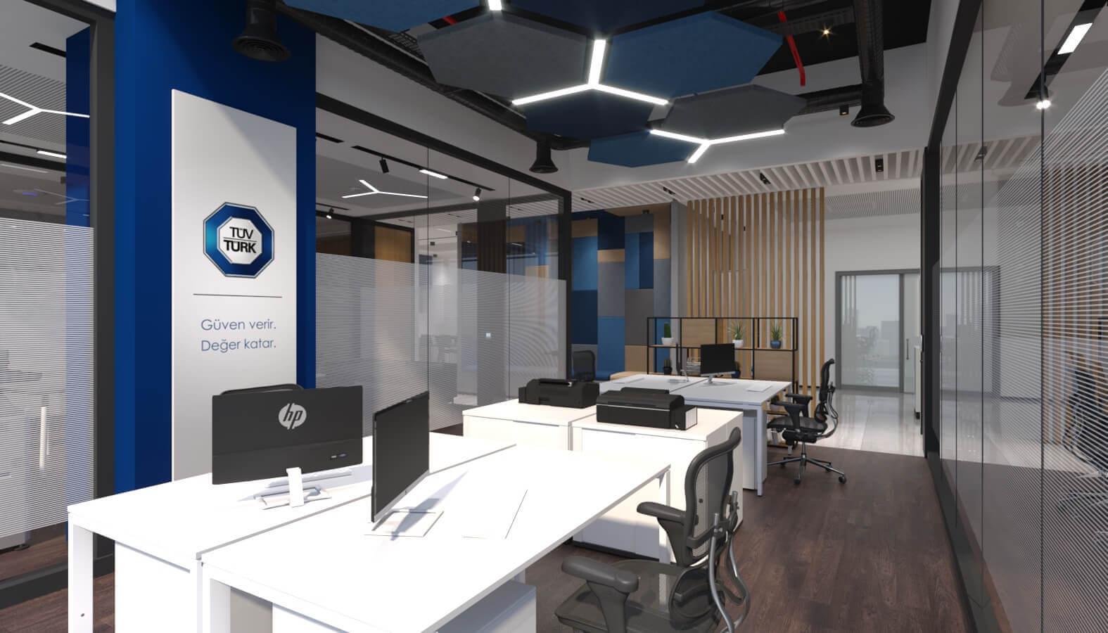 ofis içmimari 3837 Tüvtürk Ankara Ofis Ofisler