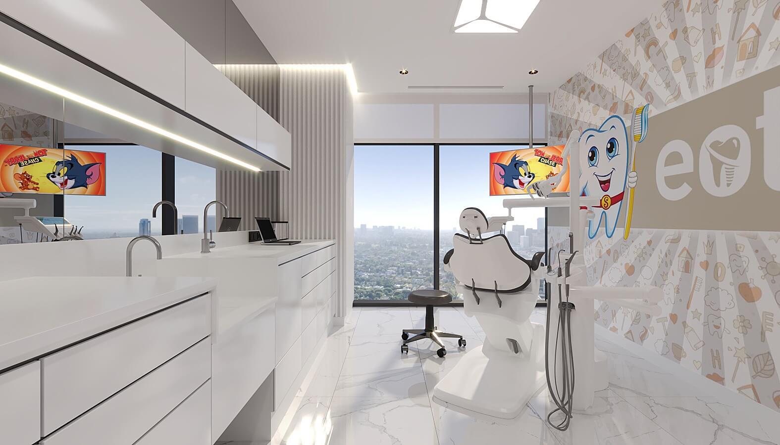 Diş kliniği tasarımı 4521 EOT Diş Kliniği Sağlık